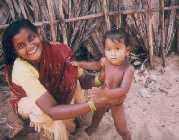 A woman anbd her baby, Puri, Orissa